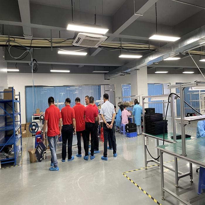 热烈欢迎东莞市赣州商会岭安片区莅临扬铃电子SMT工厂参观学习